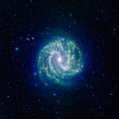This spectacular spiral galaxy is known to astronomers as Messier 83. Colloquially, it is also called the Southern Pinwheel due to its similarity to the more northerly Pinwheel galaxy Messier 101. NASAs Spitzer Space Telescope shows us, in spectacular detail, the infrared structure of what many think of as our own Milky Way galaxys smaller cousin.