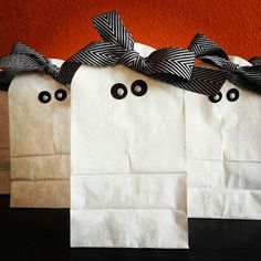 Didi @ Relief Society: Ghost Bags idea and Cute Owl treat bag link