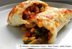 Csirkés fokhagymás fajitas Tex Mex, Fajitas, Lasagna, Baked Potato, Tacos, Mexican, Baking, Vegetables, Breakfast