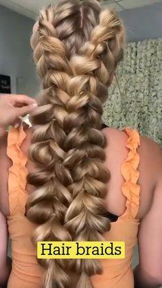 Hairdo For Long Hair, Hair Due, Easy Hairstyles For Long Hair, Braids For Medium Hair, Easy Hair Braids, Hairstyles With Braids, Long Hair Dos, Pretty Braided Hairstyles, Cool Braid Hairstyles
