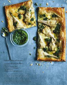 artichoke pesto and brie tart | Donna Hay Magazine Apr May 2015