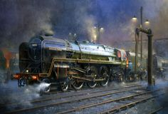 'Britannia' class Pacific No.70051 'Firth Of Forth' at Polmadie engine shed Philip D Hawkins