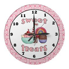 Sweet Treats cartoon wall clock