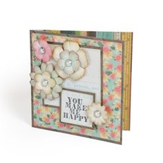 Happy Coquette Flowers Card