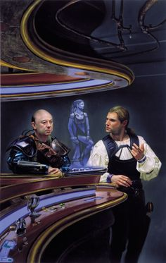 Donato Giancola - Cover illustration for The Widowmaker Reborn by Mike Resnick, 1997