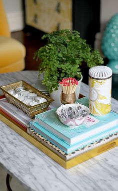 3 ways to style a coffee table, coffee table, Swoonworthy, Kimberly Hughes, styling tips