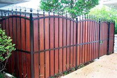 I love this look for a fence!