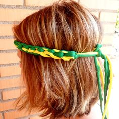 Handmade crocheted World Cup headband for women. Choose your colors and support your country in the Soccer World Cup wearing a boho crochet headband. Can be customized for Brazil, Spain, USA, Colombia, Mexico, Italy, France, Germany, England and any other country. Mored headbands, bracelets and necklaces for the World Cup 2014 in my Etsy shop. #COLOROGY #WorldCup #Brazil