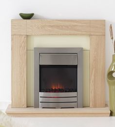 Malmo Contemporary Coal Electric Fireplace Suite