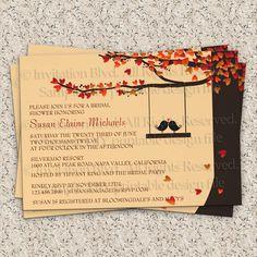 Love Birds - Fall in Love - Spring Bridal Shower - Bridal Shower Invitation - Bridal or Couples Shower Printable DIY Invitation. $10.99, via Etsy.