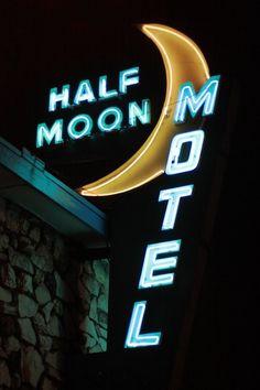 Neon Sign - Half Moon Motel, Culver City, LA- California x