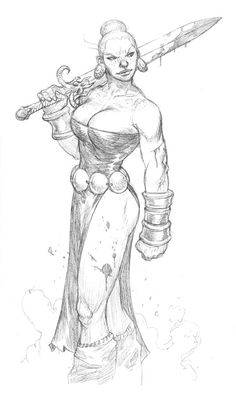 Prescott Draw-Blog. I love this character concept, but she's one good sneeze away from being topless.