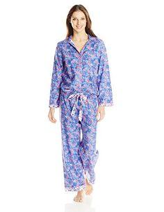 Cyberjammies Women s Betsy Print Pajama Set a43fc987c