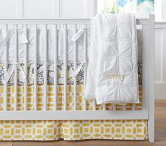 Ana Paisley Nursery Bedding #pbkids, love this quilt and bumper