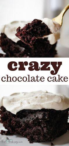 Crazy Chocolate Cake - OwlbBaking.com