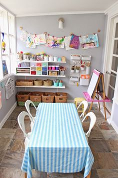 Make Your Own Art Space + The New Playroom
