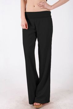 Linen Pants Black - Fold Down Linen Pants - $26.00 Sizes available   Small to 3XL