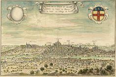 Profil de la ville du Mans (Pays de la Loire) - en 1695