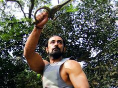 The new poster of Kunal Kapoor starrer 'Veeram' is out and it gets back the ancient form of martial art Kalaripayattu. Kunal Kapoor, New Poster, Get Back, Ancient Art, Martial Arts, Hot Guys, Bubble, Bollywood, Tank Man