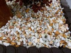Love this 4 Colour Mix of Yellow, Pink, Green & White Marble Gravel. Gravel Drive, Decorative Gravel, Flower Beds, White Marble, Color Mixing, Colour, Yellow, Green, Pink