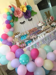 Unicorns party Birthday Party Ideas | Photo 1 of 23