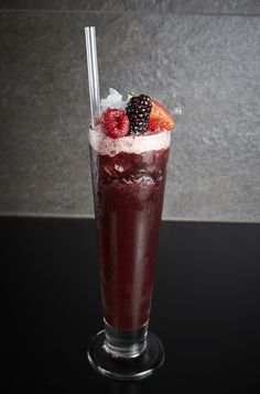 Eclipse ACAI SUPERFRUITS  A healthy super kick in a glass. Homemade peppered Ketel One vodka shaken with fresh blackberries, fresh raspberries and acai juice. Topped up with a dash of balsamic strawberry syrup and soda water.