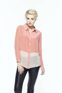 paper crown: mast blouse with sheer