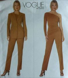 Jacket Top and Pants Sewing Pattern Uncut DONNA by latenightcoffee, $28.00