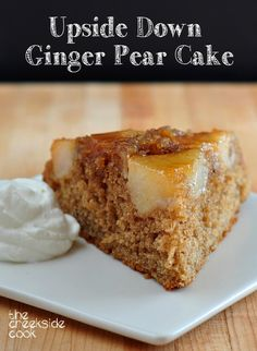 Use your trusty iron skillet to make this Upside Down Ginger Pear Cake on The Creekside Cook [no iron skillet? you can make it anyway!]