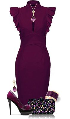 Latest Burgundy Arrivals Perfect Burgundy Dress High Heels and Accessories
