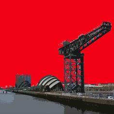 Glasgow crane. Great print by Stephen O'Neil