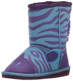 MUK LUKS Kids' Animal Zebra Pull-on Boot, Blue, 11 M US Little Kid. Fashion boot.