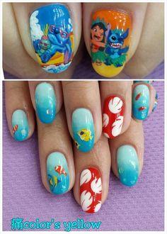 Lilo & Stitch : Character nail art