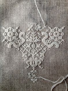 Embroidery Pattern - Byzantine Lace - Blackwork or Whitework, counted cross stitch