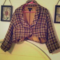 Tweed plaid jacket Lined Ashley Stewart jacket Ashley Stewart Jackets & Coats