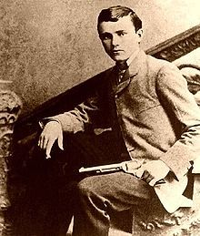 """Robert """"Bob"""" Ford, born January 31,1862 Ray County, Missouri, died June 8, 1892, assassinated by Edward Capehart O'Kelley, killed with a shotgun blast to the upper body. Robert Newton Ford is known for the assassination of Jesse James."""