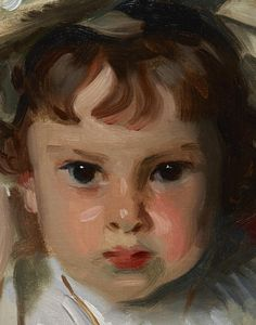 Detail, Portrait of Dorothy (Dorothy Williamson) John Singer Sargent -- American painter 1900 Dallas Museum of Art, Texas Oil on canvas 61.278 x 50.17 cm (24 1/8 x 19 3/4 in.) Dallas Museum of Art, gift of the Leland Fikes Foundation, Inc. Accession Number: 1982.35