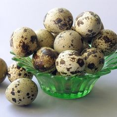 Quail eggs can be found at Asian grocery stores.