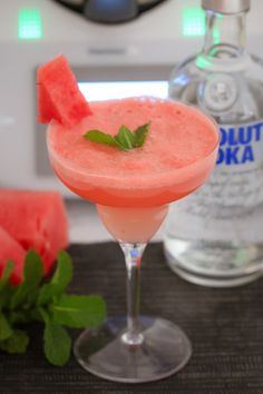 The perfect summer drink! Our Thermomix Watermelon, Vodka & Mint Cocktail will have you wishing summer would never end! Quick, easy & delicious!