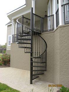 Outdoor Spiral Staircase #Spiral #Staircase | Stair case design ...