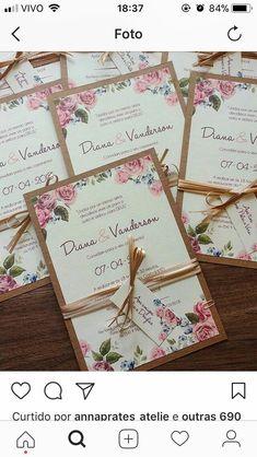 Apenas fitas sem envelope – casamento – # fitas # apenas # sem # envelope - New Site Acrylic Wedding Invitations, Wedding Invitation Cards, Wedding Stationery, Wedding Cards, Diy Wedding, Wedding Favors, Rustic Wedding, Wedding Planner, Dream Wedding