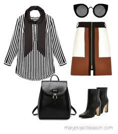 """""""How To Pull Off A Skinny Scarf! #3"""" by mary-projectseason on Polyvore featuring River Island and Quay"""