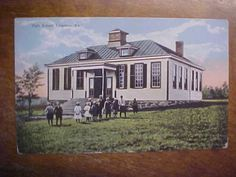 VA-SHIPMAN-High-School-W-E-Burgess-Scottsville-Postcard