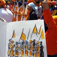 #SikhArt  Live Paintings capturing the splendor of Nagar Kirtan In Spain!  Just discovered this absolutely wonderful and talented artist named Juan Linares who displayed some amazing sketches/illustrations during Nagar Kirtan festivities in Spain.  Share this piece of art & appreciate the efforts!