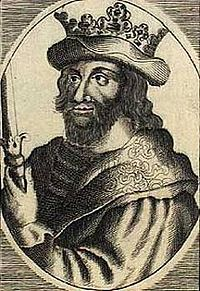 "Sweyn II, King of Denmark (1047-1074) was nephew to Cnut the Great. He married three times, fathering more than 20 children. Five of his fifteen sons became king of Denmark. He became king when Magnus died, upon hearing of Magnus' death Sweyn said, ""Now so help me God, I shall never yield Denmark."""