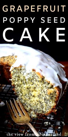 Grapefruit Poppy Seed Cake--this citrusy bundt cake is packed to the gills with the essence of fresh grapefruit and positively loaded with poppy seeds. Citrus Recipes, Beef Recipes, Cake Recipes, Dessert Recipes, Cooking Recipes, Pan Cooking, Dessert Ideas, Recipies, Special Recipes