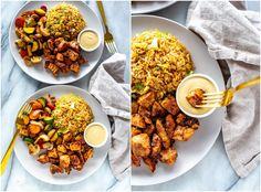 Perfect Hibachi Chicken {Benihana Copycat} - The Girl on Bloor Hibachi Chicken, Teriyaki Chicken, Hibatchi Recipes, Diner Recipes, Grilling Recipes, Sauteed Vegetables, Chicken And Vegetables, Veggies