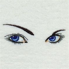 Realistic Eyes embroidery design