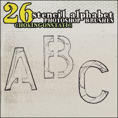 alphabet brushes by chokingonstatic.deviantart.com