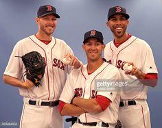 News Photo : Boston Red Sox Big Three starting pitchers Chris...